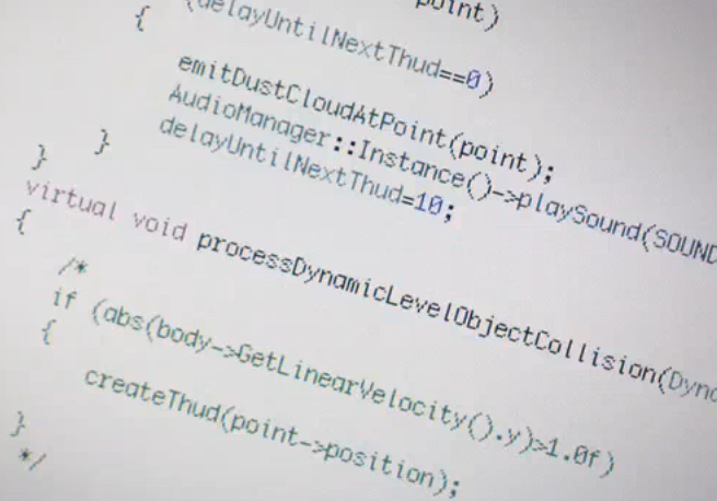 Sourcecode in Apple Werbung
